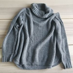 Belldini grey sweater rainbow flecks cowl neck